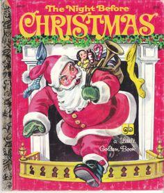 The Night Before Christmas 1981 Little Golden Book Corinne Malvern 450 31 | eBay