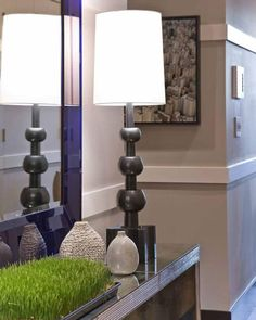 Hardwick Table Lamp by Vaughan at the W Boston Residences, Boston.