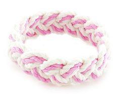 Sailor Knot Bracelet Pink & White
