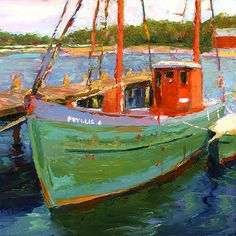Michael MacTavish. I love paintings of work boats. >> Me too!