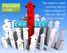"""""""We need to make a choice and to take a chance or else our life will never change..."""""""