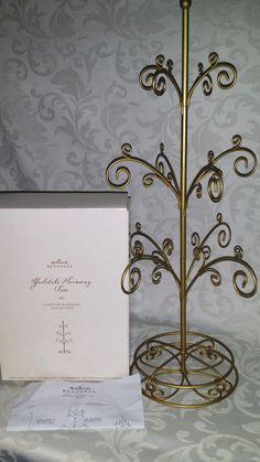 Hallmark Keepsake Yuletide Harmony Christmas Tree Table Decoration Display Item