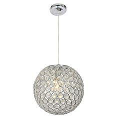 BRIGHT STAR LIGHTING | Crystal Dome Pendant Lamp in Chrome - Lighting - 5rooms.com I Love Lamp, Dining Decor, Bright Stars, Pendant Lamp, Festive, Globe, Chrome, Ceiling Lights, Interiors