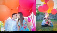 unique miami engagement photography couple session photographer balloons