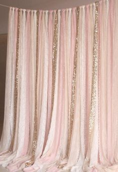 Blush Pink White Lace Fabric Gold Sparkle Photobooth Background Wedding Ceremony Stage, Birthday, Baby Shower Background Party Curtain Nursery - Decoration For Home Gold Sparkle, Gold Lace, Sparkle Wedding, Sparkle Party, Purple Gold, Baby Shower Background, Baby Shower Backdrop, Sweet 16 Parties, Ideas Party