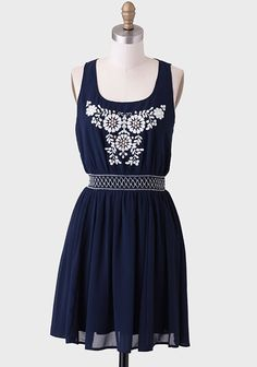 Waterfront Embroidered Dress
