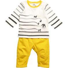 Catimini Baby Boys Yellow Trousers & Top Set at Childrensalon.com