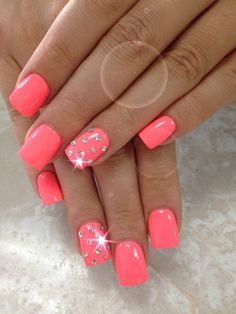 Simple but very cute - nails Colorful Nail Designs, Toe Nail Designs, Acrylic Nail Designs, Perfect Nails, Gorgeous Nails, Pretty Nails, Get Nails, Love Nails, Pink Acrylic Nails