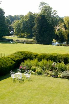 View of the Island Temple for civil ceremonies at Ardington House in Oxfordshire