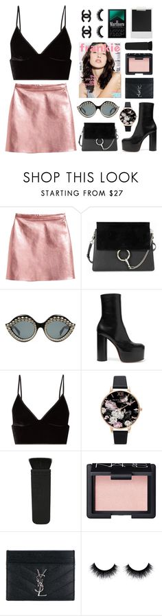 """my friends don't walk they run"" by transitionmetals ❤ liked on Polyvore featuring Polaroid, Chloé, Gucci, Vetements, T By Alexander Wang, Olivia Burton, NARS Cosmetics and Yves Saint Laurent"