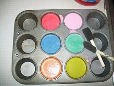 Blissful and Domestic- Thrifty Living and Big Smiles: Bath Tub Fingerpaints