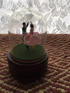 Reuge dancing couple under glass dome US $250.00 starting bid