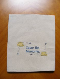Embroidered Kitchen Towel Savor the Memories by LJsCustomCreations, $10.50