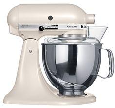 """KitchenAid Artisan Robot de Cozinha - Pérola <3 """"A personalidade de um cozinheiro expressa-se na criação de sensuais experiências culinárias que englobam todos os sentidos, incluído a visão. A KitchenAid considera as suas batedeiras como uma extensão criativa das mãos do cozinheiro, proporcionando um óptimo controlo a nível profissional. Esta Batedeira Artisan™ Chefe Tilt é tudo isso e tem um design icônico."""""""