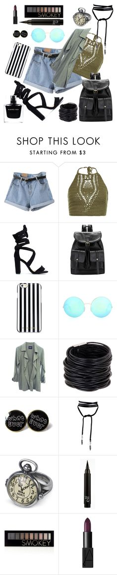 """Untitled #128"" by julietarequena on Polyvore featuring New Look, MICHAEL Michael Kors, Victoria Beckham, Saachi, Forever 21, NARS Cosmetics and Narciso Rodriguez"