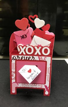 Svgcuts has this super cute mailbox file that every kid would love! Unique Valentine Box Ideas, Valentine Day Cards, Happy Valentines Day, Diy Valentine's Mailbox, Bridesmaid Gift Bags, Card Making Techniques, Collar Top, High Collar, Scrapbook Paper Crafts
