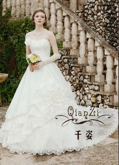 wedding dress - http://zzkko.com/n206564-edding-dress-latest-winter-models-2013-Gong-Ting-Leisi-embroidery-Bra-Removable-the-activities-long-tail-wedding.html $30.16