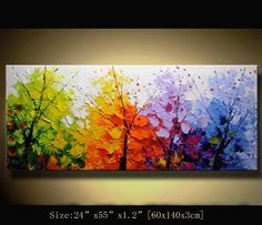 Original Abstract Painting, Modern Textured Painting,Impasto Landscape Textured Modern Palette Knife Painting,Painting on Canvas byChen g041
