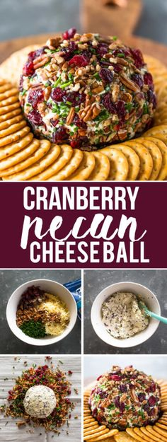 What better way to impress your family and guests this holiday season than with this festive cranberry pecan chive and garlic loaded cheese ball. Cheese Ball Recipes, Appetizer Recipes, Appetizer Sandwiches, Potato Recipes, Vegetable Recipes, Dinner Recipes, Thanksgiving Recipes, Holiday Recipes, Fall Recipes