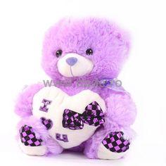 Ursulet de plus mauve D-20-big D 20, Teddy Bear, Toys, Activity Toys, Clearance Toys, Teddy Bears, Gaming, Games, Toy