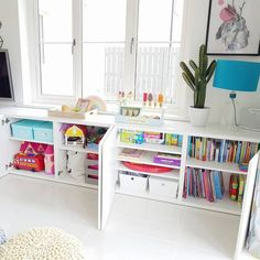 IKEA Besta hack for toy storage in kid playroom decor, girl bedroom decor with t. - PDB Trending IKEA Besta hack for toy storage in kid playroom decor, girl bedroom decor with toy and craft storage, kid room decor Toy Room Storage, Outdoor Toy Storage, Craft Storage, Ikea Kids Storage, Storage Ideas, Ikea Living Room Storage, Toy Organization, Kitchen Storage, Bedroom Organization