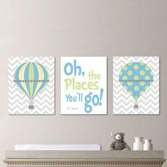 Hot Air Balloon Nursery Hot Air Balloon Art by RhondavousDesigns2, $20.00