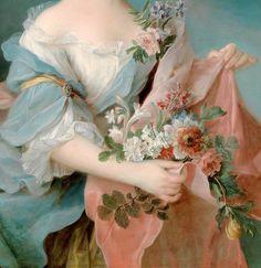 François-Hubert Drouais (1727 –1775) - Portrait of an Elegant Lady