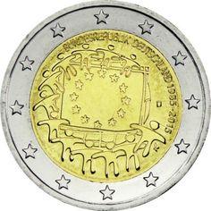 2 Euro CuNi Europaflagge D UN