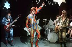 Until there was rock, you only had God...    Ziggy Stardust and The Spiders from Mars, 1972.