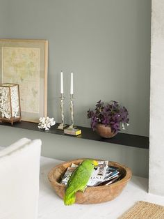 Mossa er en grønn sotet fargenyanse som kan gjøre seg godt på alle fire veggene i et rom