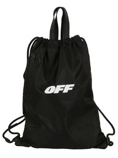 34271d07aba6 OFF-WHITE OFF-WHITE LOGO PRINT DRAWSTRING BACKPACK.  off-white  bags   backpacks