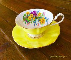 Helen's Royal Tea House. Vintage Queen Anne teacup.  https://www.facebook.com/HelensRoyalTeaHouse  http://www.etsy.com/shop/HelensRoyalTeaHouse