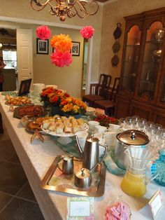 "Spring Brunch Bridal Shower at ""cheap crafty mama"" blog... Sounds like my mom, lol."