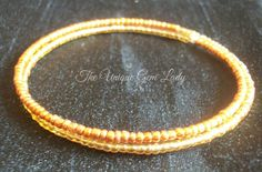 Hand Crafted Lemon & Orange Seed Bead Memory by TheUniqueGemLady