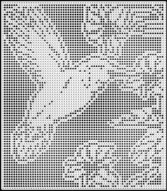 HUMMINGBIRD AMONG FLOWERS CROCHET AFGHAN PATTERN. Picture only