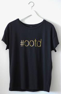 Black #ootd Gold Foil Tee - Kelly Elizabeth Designs t-shirt