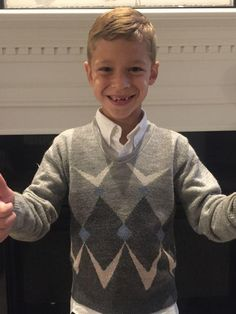 When first-grader Brady Gose showed up for school picture day, he brought a bit of family history with him —a 61-year-old sweater worn by four family members before him.