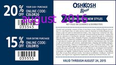 OshKosh B'gosh Coupons Ends of Coupon Promo Codes MAY 2020 ! and times holiday the incl. Baby Coupons, Free Printable Coupons, Love Coupons, Grocery Coupons, Shopping Coupons, Hobby Lobby Wedding Invitations, Coupons For Boyfriend, Hobbies To Try, Oshkosh Bgosh