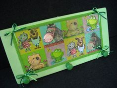 Pretty green wooden clothes hanger for a baby by HandmadeByFiona, $35.00