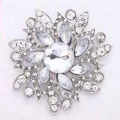 Glam Old Hollywood Wedding Brooch
