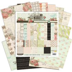 Love this collection of paper scrapbooking goodies ... wish it was a digi kit :o(