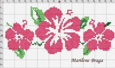 """Cross Stitch pattern """"HIBISCUS SEEDS"""" summer TROPICAL floral antique print. Description from pinterest.com. I searched for this on bing.com/images"""