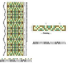 Pattern I designed for tablet weaving Inkle Weaving Patterns, Loom Weaving, Card Weaving, Basket Weaving, Finger Weaving, Inkle Loom, Weaving Projects, Weaving Techniques, Painting
