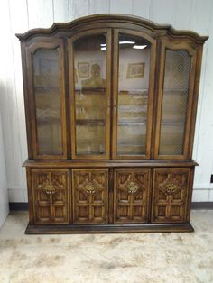 Elegant china hutch for only $249. This item is located at our east location, 1650 south Oliver. #furniture #china #hutch forsale #mk #consignment #home #house #apartment #decor