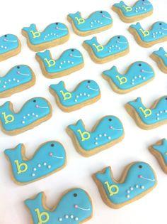 Preppy Whale Cookies (2 dozen Whale Cookies), $24  {Sunshine Bakes via Etsy}