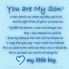 You are My Son....