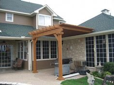 Image Detail for - pergola makes an attractive shade addition for an outdoor kitchen. #PergolaCanopy