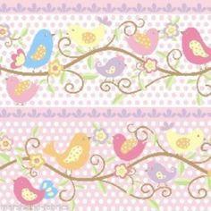 Happy Birds Sing Stripe On Pink Spotty Background,100% Cotton Fabric   eBay