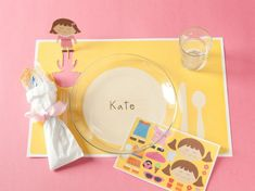 party place setting, from One Charming Party
