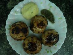 Litti chokha (roasted flour balls with mashed potato) : http://secretindianrecipe.com/recipe/litti-chokha-roasted-flour-balls-mashed-potato
